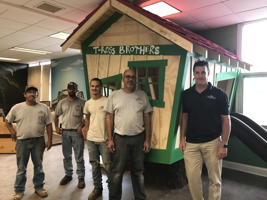 T-Ross Brothers designs and builds a tree house for the Lewisburg Children's Museum