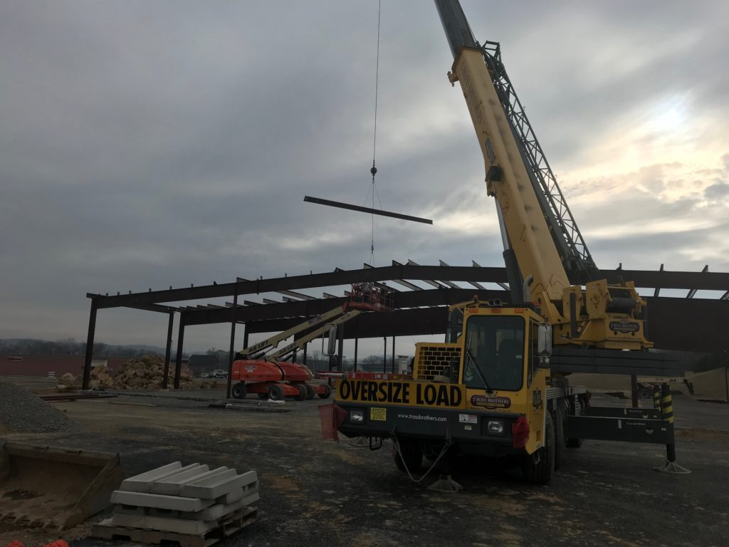 A new Cole's Hardware store is taking shape in Muncy